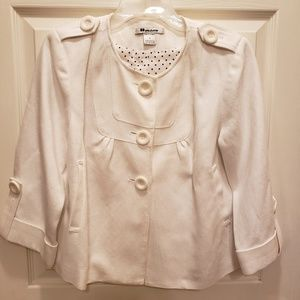 Nycard Collection 3 button blazer white 8 Petite
